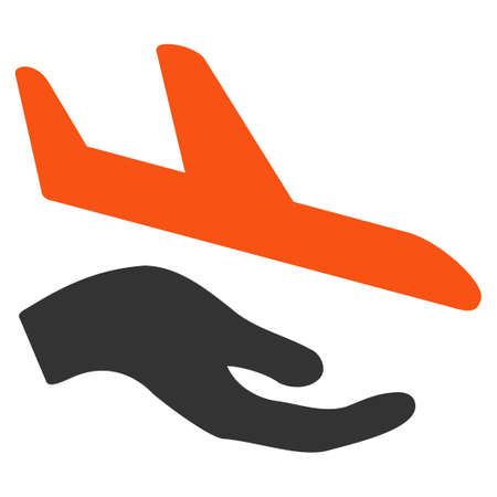 airflight: Aviation Support glyph icon. Style is flat symbol, rounded angles, white background.