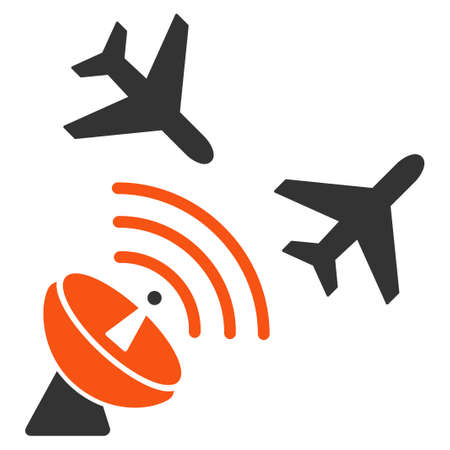 airflight: Flight Radar glyph icon. Style is flat symbol, rounded angles, white background. Stock Photo