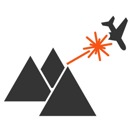 airflight: Piramides Strike Airplane glyph icon. Style is flat symbol, rounded angles, white background.