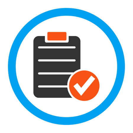 registration mark: Apply Form vector icon. Style is flat rounded symbol, bright colors, rounded angles, white background.