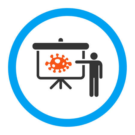 ameba: Bacteria Lecture vector icon. Style is flat rounded symbol, bright colors, rounded angles, white background.