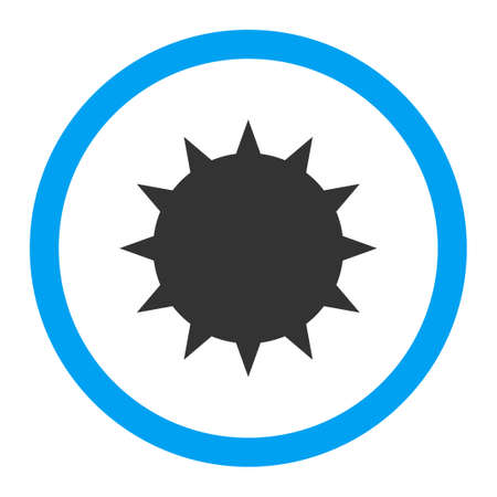 spore: Bacterium vector icon. Style is flat rounded symbol, bright colors, rounded angles, white background.