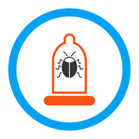 preservative: Bug Protection vector icon. Style is flat rounded symbol, bright colors, rounded angles, white background. Illustration