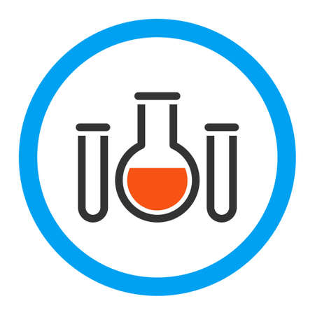 retort: Chemical Vessels vector icon. Style is flat rounded symbol, bright colors, rounded angles, white background. Illustration