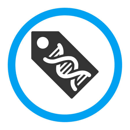 genom: Dna Marker vector icon. Style is flat rounded symbol, bright colors, rounded angles, white background.