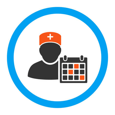 doctor appointment: Doctor Appointment vector icon. Style is flat rounded symbol, bright colors, rounded angles, white background.