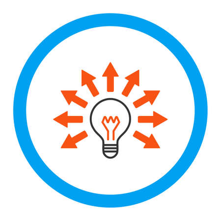 electric light: Electric Light vector icon. Style is flat rounded symbol, bright colors, rounded angles, white background. Illustration