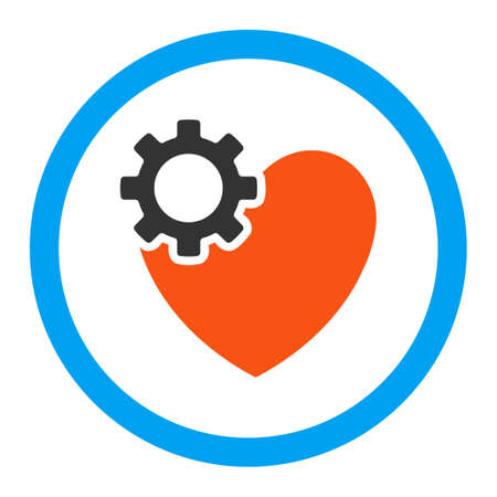 heart surgery: Heart Surgery vector icon. Style is flat rounded symbol, bright colors, rounded angles, white background.