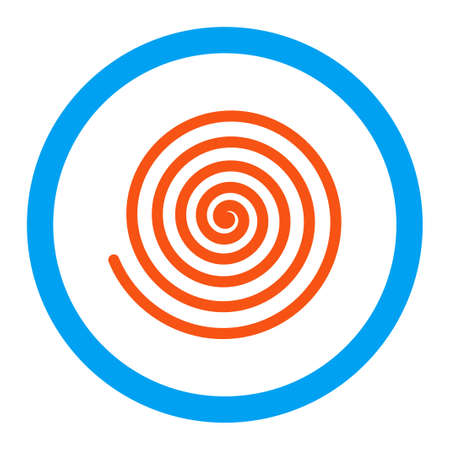 curl whirlpool: Hypnosis vector icon. Style is flat rounded symbol, bright colors, rounded angles, white background. Illustration
