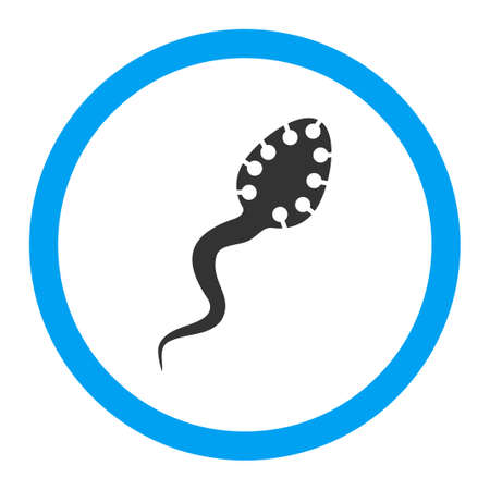 bloodsucker: Infectious Microbe vector icon. Style is flat rounded symbol, bright colors, rounded angles, white background. Illustration