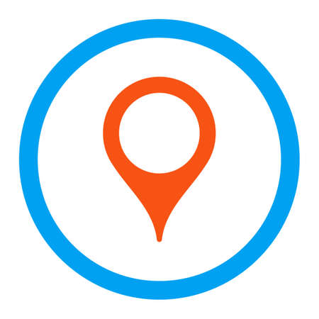 map marker: Map Marker vector icon. Style is flat rounded symbol, bright colors, rounded angles, white background.