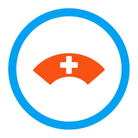visor: Medical Visor vector icon. Style is flat rounded symbol, bright colors, rounded angles, white background.