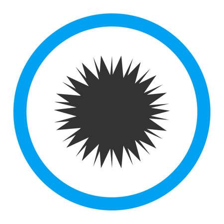 microbio: Microbio Spore icono del vector. El estilo es el s�mbolo plana redondeada, colores brillantes, �ngulos redondeados, fondo blanco.