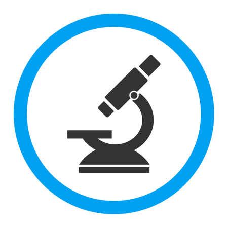 microscopio: Vector icon microscopio. El estilo es el símbolo plana redondeada, colores brillantes, ángulos redondeados, fondo blanco. Vectores