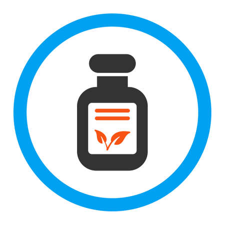phial: Natural Drugs vector icon. Style is flat rounded symbol, bright colors, rounded angles, white background.