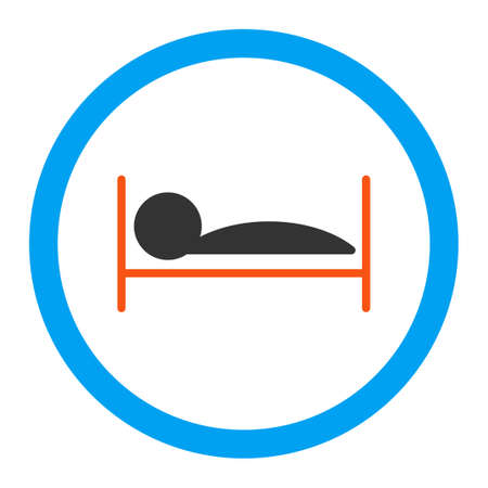 patient bed: Patient Bed vector icon. Style is flat rounded symbol, bright colors, rounded angles, white background.