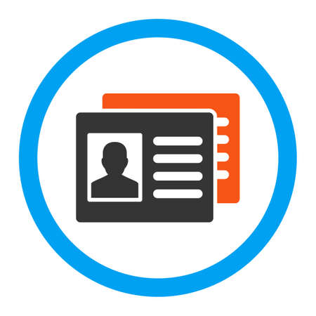 accounts: Patient Accounts vector icon. Style is flat rounded symbol, bright colors, rounded angles, white background.