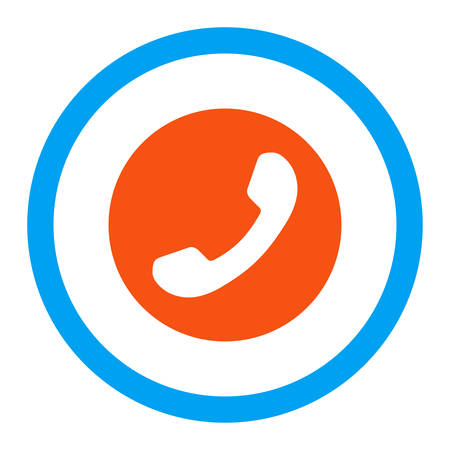 phone number: Phone Number vector icon. Style is flat rounded symbol, bright colors, rounded angles, white background.