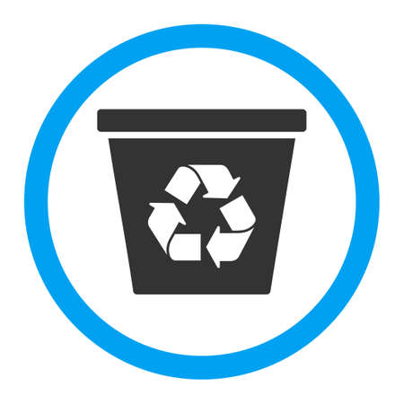 papelera de reciclaje: La papelera de reciclaje del icono del vector. El estilo es el símbolo plana redondeada, colores brillantes, ángulos redondeados, fondo blanco.