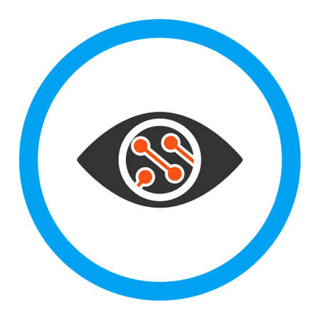 contact lens: Smart Lens vector icon. Style is flat rounded symbol, bright colors, rounded angles, white background. Illustration