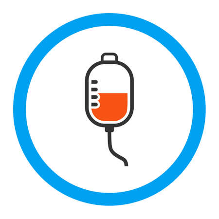 pharmacologist: Therapy Dropper vector icon. Style is flat rounded symbol, bright colors, rounded angles, white background. Illustration