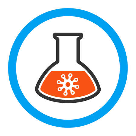 idler: Virus Analysis vector icon. Style is flat rounded symbol, bright colors, rounded angles, white background.
