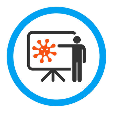 epidemy: Virus Report vector icon. Style is flat rounded symbol, bright colors, rounded angles, white background.