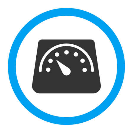 ton: Weight Meter vector icon. Style is flat rounded symbol, bright colors, rounded angles, white background. Çizim