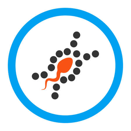 genom: DNA Replication glyph icon. Style is flat rounded symbol, bright colors, rounded angles, white background.