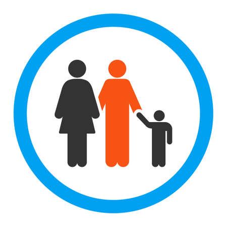 pregnant women donuts: Family glyph icon. Style is flat rounded symbol, bright colors, rounded angles, white background.