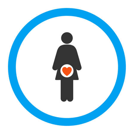 sexual reproduction: Fertility glyph icon. Style is flat rounded symbol, bright colors, rounded angles, white background. Stock Photo