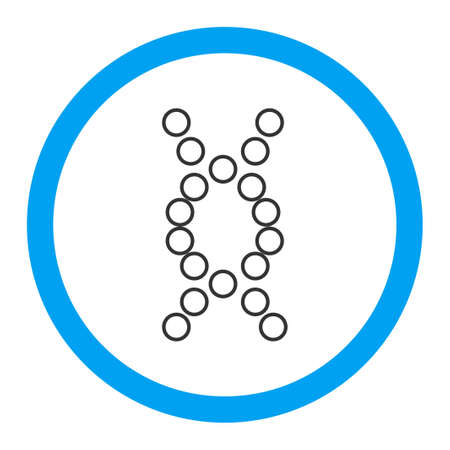 genom: Genome glyph icon. Style is flat rounded symbol, bright colors, rounded angles, white background.