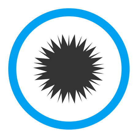 microbio: Microbio Spore icono de glifo. El estilo es el s�mbolo plana redondeada, colores brillantes, �ngulos redondeados, fondo blanco.