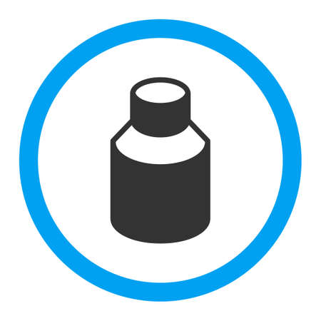 phial: Phial glyph icon. Style is flat rounded symbol, bright colors, rounded angles, white background.