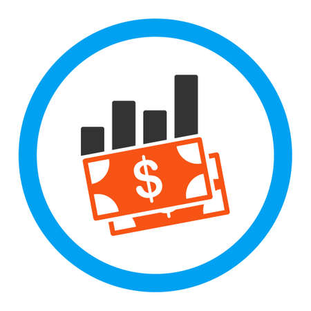 sales bar chart glyph icon style is flat rounded symbol bright rh 123rf com