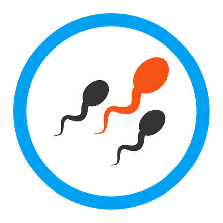 goad: Sperm glyph icon. Style is flat rounded symbol, bright colors, rounded angles, white background.