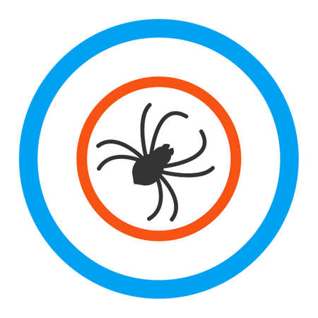 web crawler: Spider glyph icon. Style is flat rounded symbol, bright colors, rounded angles, white background.