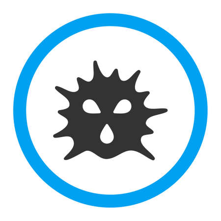 ameba: Virus Structure glyph icon. Style is flat rounded symbol, bright colors, rounded angles, white background. Stock Photo