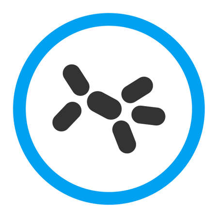 goad: Yeast glyph icon. Style is flat rounded symbol, bright colors, rounded angles, white background.
