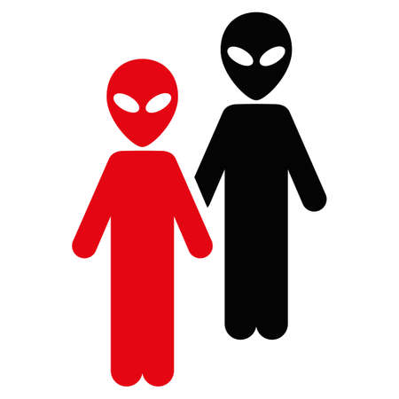 space invaders game: Aliens raster icon. Style is flat symbol, rounded angles, white background. Stock Photo