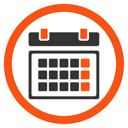 syllabus: Plan glyph icon. Style is bicolor flat rounded symbol, orange and gray colors, rounded angles, white background.