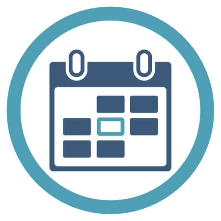 ico: Appointment Date vector icon. Style is bicolor flat rounded symbol, cyan and blue colors, rounded angles, white background.
