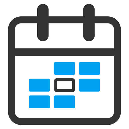 syllabus: Syllabus Date vector icon. Style is bicolor flat symbol, blue and gray colors, rounded angles, white background.
