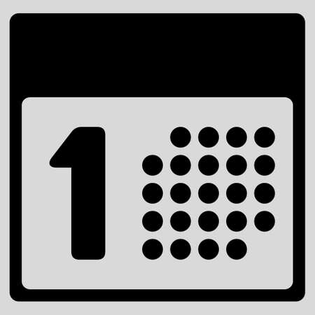 first day: First Day glyph icon. Style is flat symbol, black color, rounded angles, light gray background.