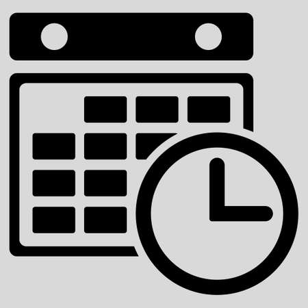 timetable: Timetable glyph icon. Style is flat symbol, black color, rounded angles, light gray background.
