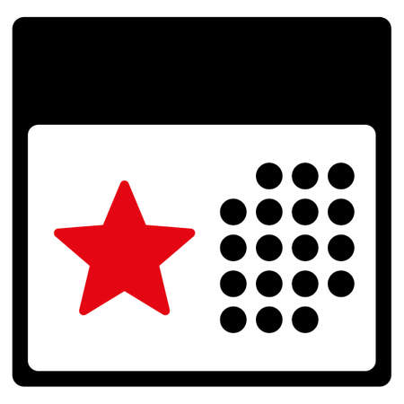 syllabus: Holiday Syllabus vector icon. Style is bicolor flat symbol, intensive red and black colors, rounded angles, white background. Illustration