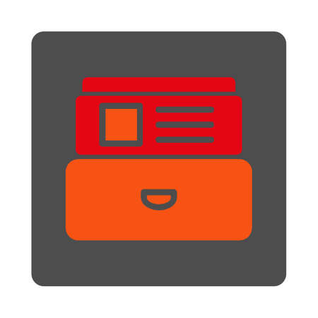 Attach File Vector Icon Style Is Flat Rounded Square Silver