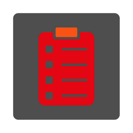 numerate: Pad Sheet vector icon. Style is flat rounded square silver button with red symbol, white background. Illustration