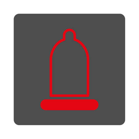 preservative: Preservative vector icon. Style is flat rounded square silver button with red symbol, white background.