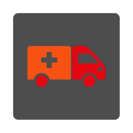 painkiller: Painkiller Shipping vector icon. Style is flat rounded square gray button with red symbol, white background.
